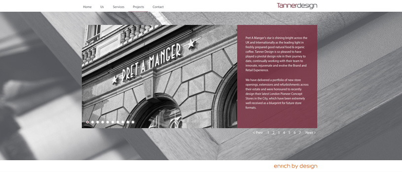 Tanner Design architect's responsive website design